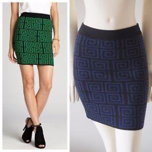 Alice + Olivia Wool Geometric Skirt